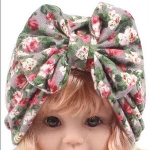 Other - New Floral Baby Girl Bow Hat/Cap/Beanie